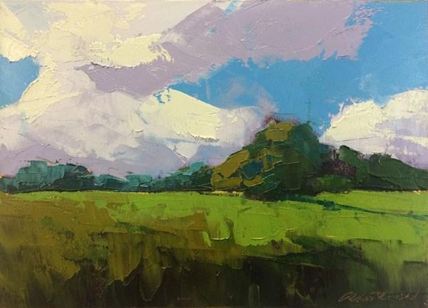 """Tree Islands"" original fine art by Mary Gilkerson"