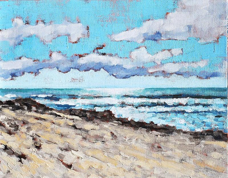 """Pacific Ocean Seascape from Coronado"" original fine art by Kevin Inman"
