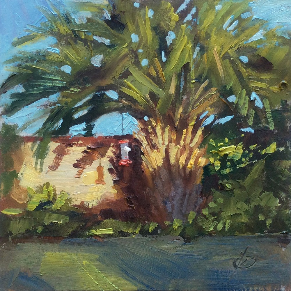 """PALM TREE"" original fine art by Tom Brown"