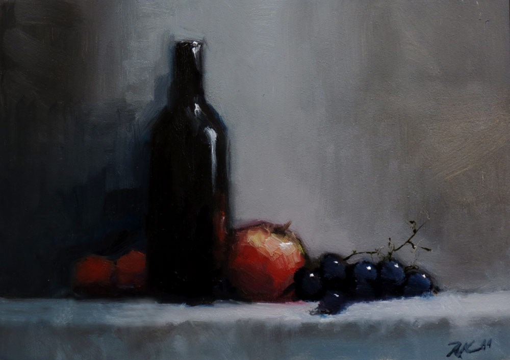 """Still Life with Grapes"" original fine art by Bob Kimball"