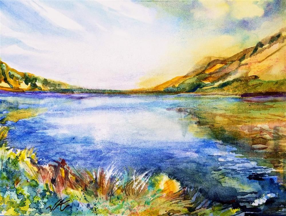 """Comanche Lake Looking East"" original fine art by Jean Krueger"
