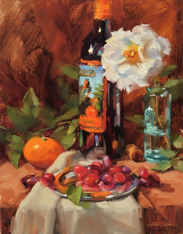 """Sangria"" original fine art by Karen Werner"