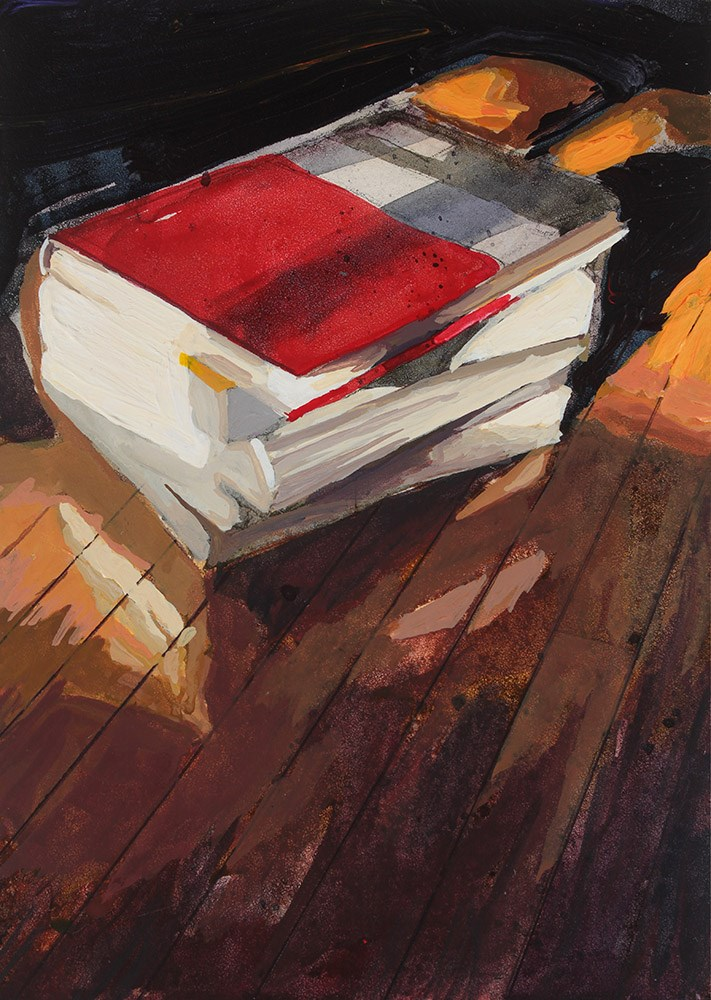 """Books II"" original fine art by Chris Breier"