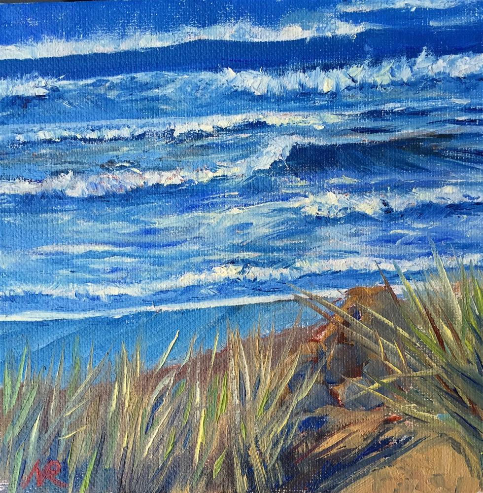 """Beach cliff"" original fine art by Natasha Ramras"