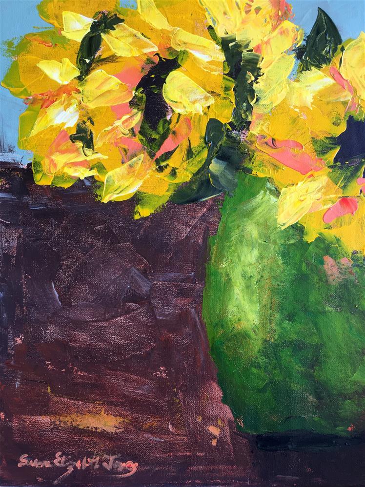 """Sunflowers II"" original fine art by Susan Elizabeth Jones"