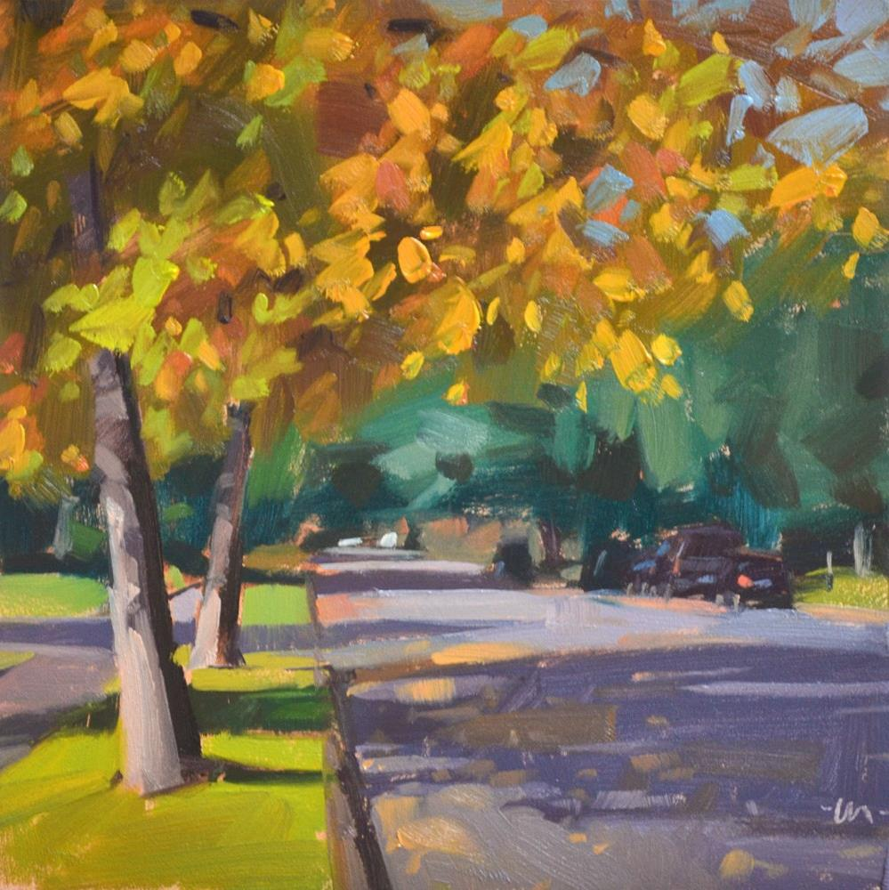 """""""Fall Shadows"""" original fine art by Carol Marine"""