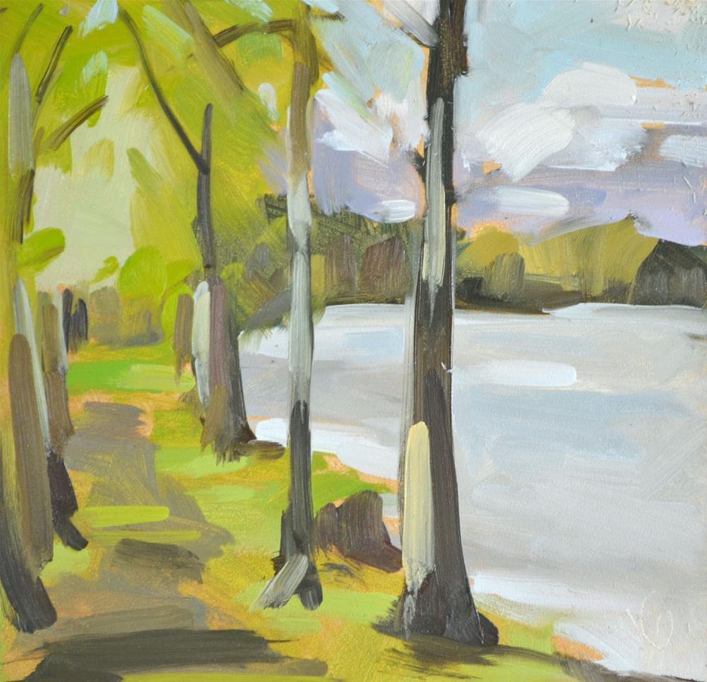 """Path Beside Study"" original fine art by Jessica Green"