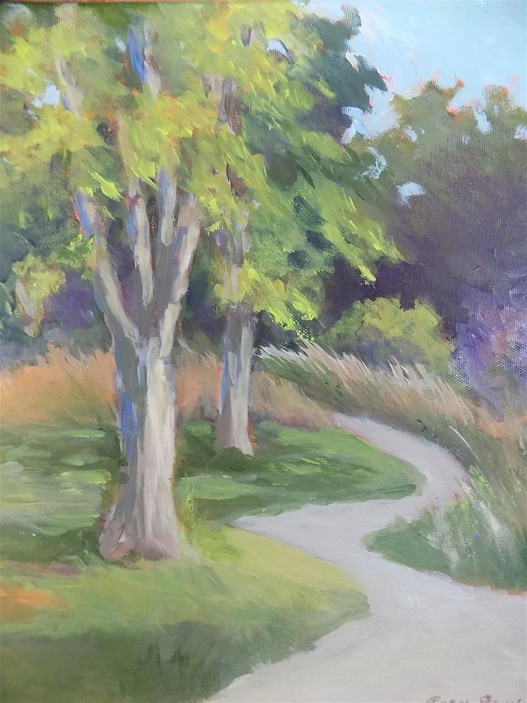 """""""Trail on Potter's Creek"""" original fine art by Joan Reive"""