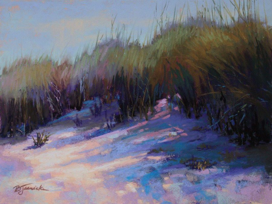 """Sand Dune Shadows 2"" original fine art by Barbara Jaenicke"