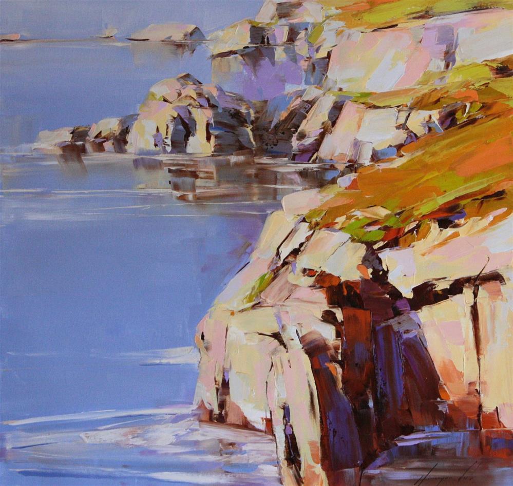 """OCEAN SIDE WEST COAST HIGHWAY"" original fine art by V Y"