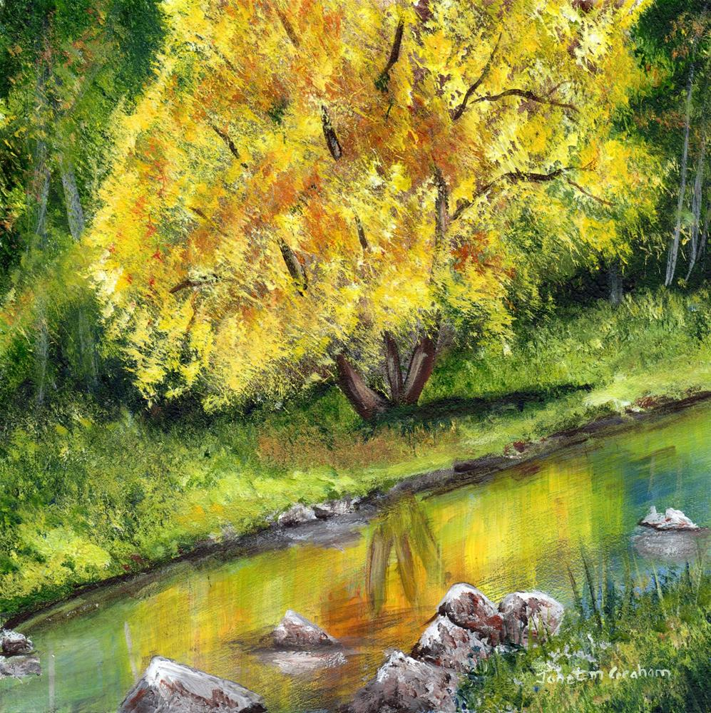 """Autumn Tree"" original fine art by Janet Graham"