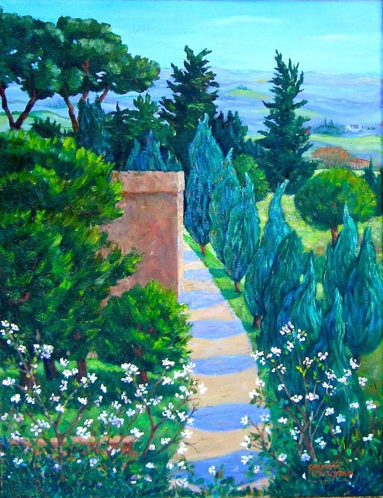 """Along the Walls of San Gimignano"" original fine art by Patricia Musgrave"