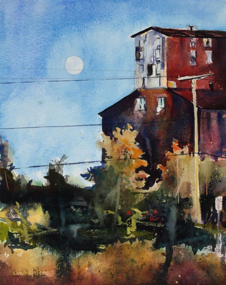 """Moonrise"" original fine art by Chris Breier"