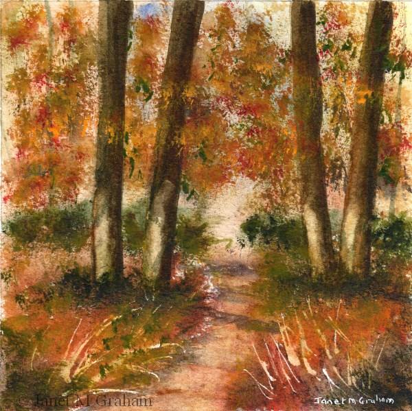"""""""Autumn Pathway"""" original fine art by Janet Graham"""