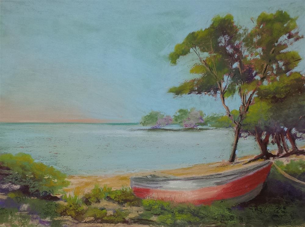 """""""Quiet Seashore"""" original fine art by Donna Donnon"""