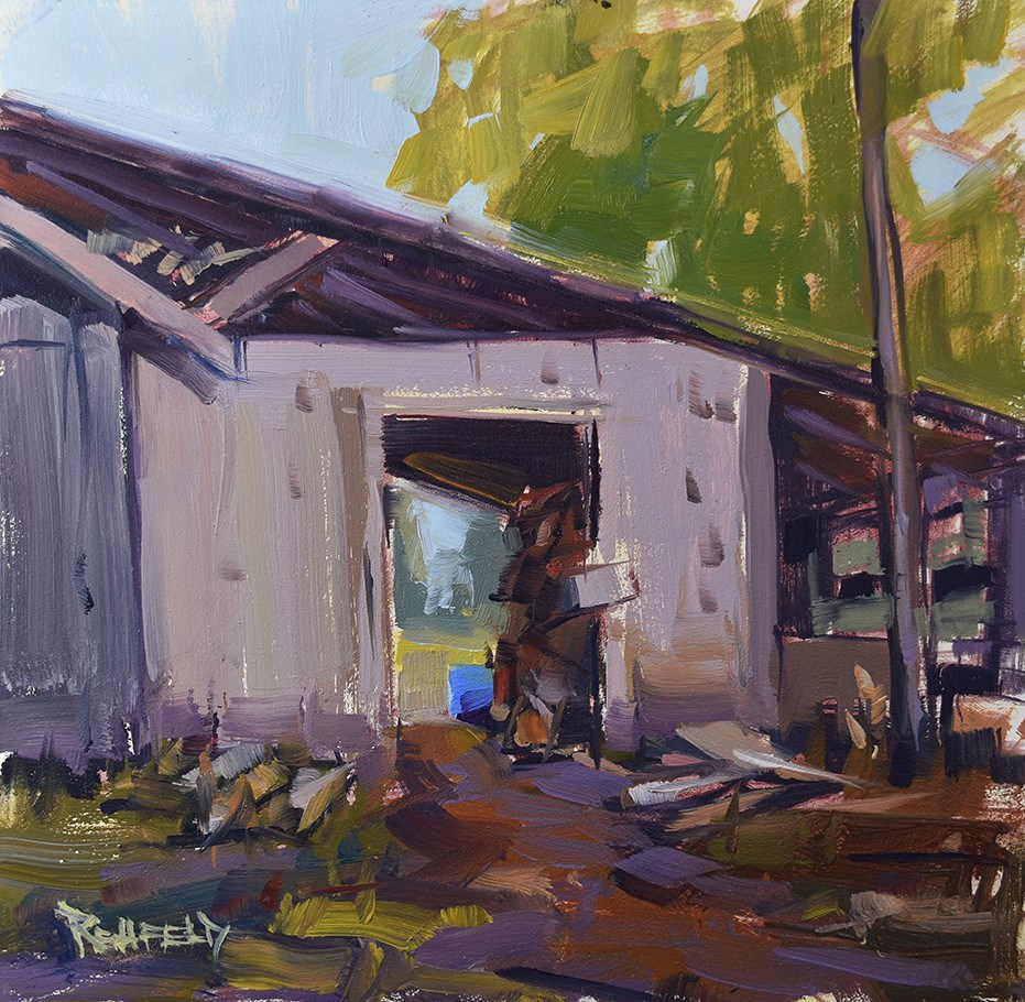 """The Woodshed"" original fine art by Cathleen Rehfeld"
