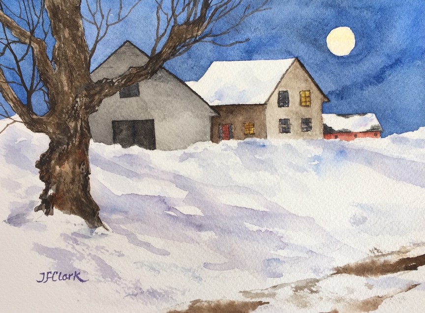 """Super Moon"" original fine art by Judith Freeman Clark"