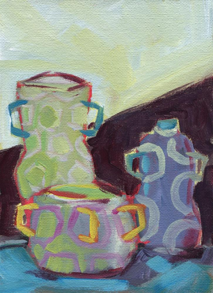 """0484: Study of Three Vases"" original fine art by Brian Miller"