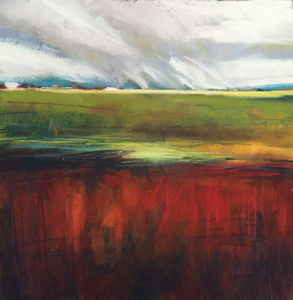 """Red Field"" original fine art by Marla Baggetta"