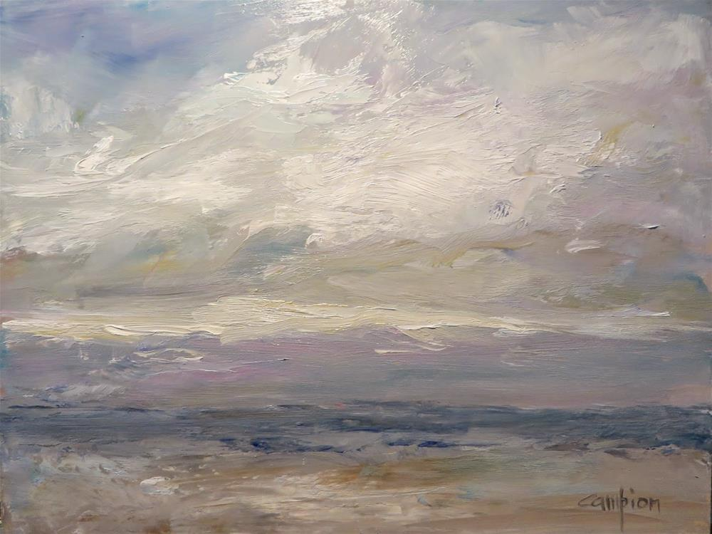 """""""597 View of Lake Michigan From the Harvey's"""" original fine art by Diane Campion"""