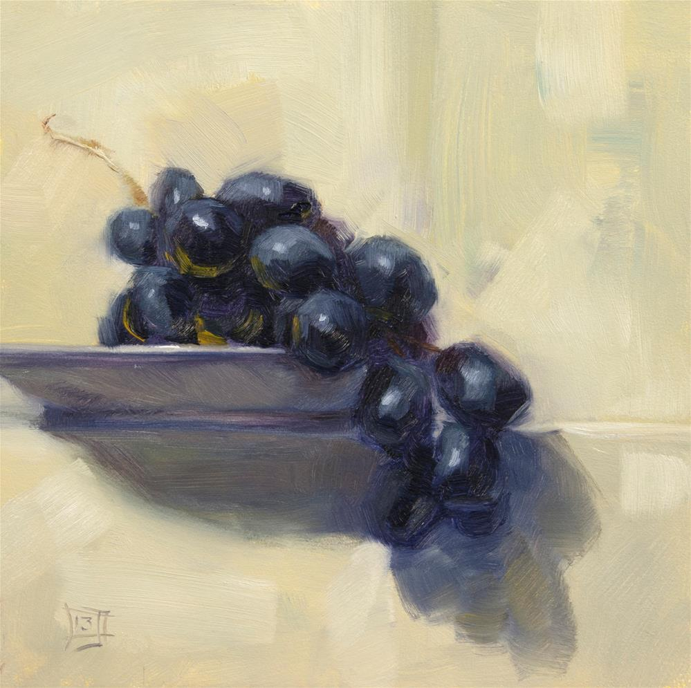 """Late Night Grapes"" original fine art by Johan Derycke"