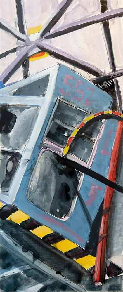 """""""2521 Crane 08"""" original fine art by Dietmar Stiller"""