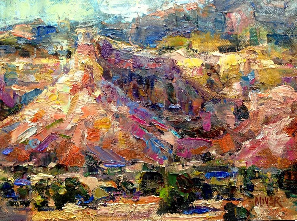 """""""Georgia's View - Ghost Ranch, NM."""" original fine art by Julie Ford Oliver"""