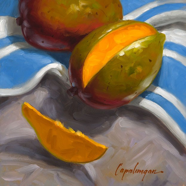 """Just One Slice?"" original fine art by David Capalungan"
