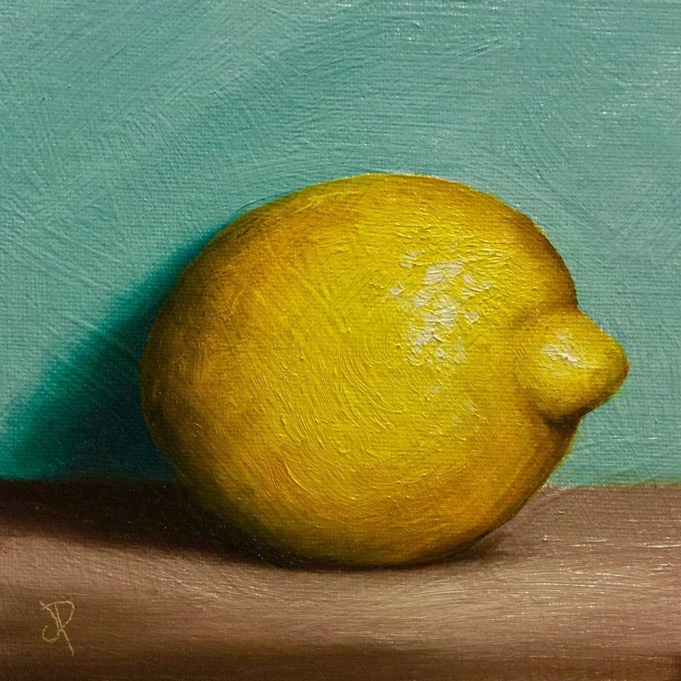 """Lemon shadow"" original fine art by Jane Palmer"