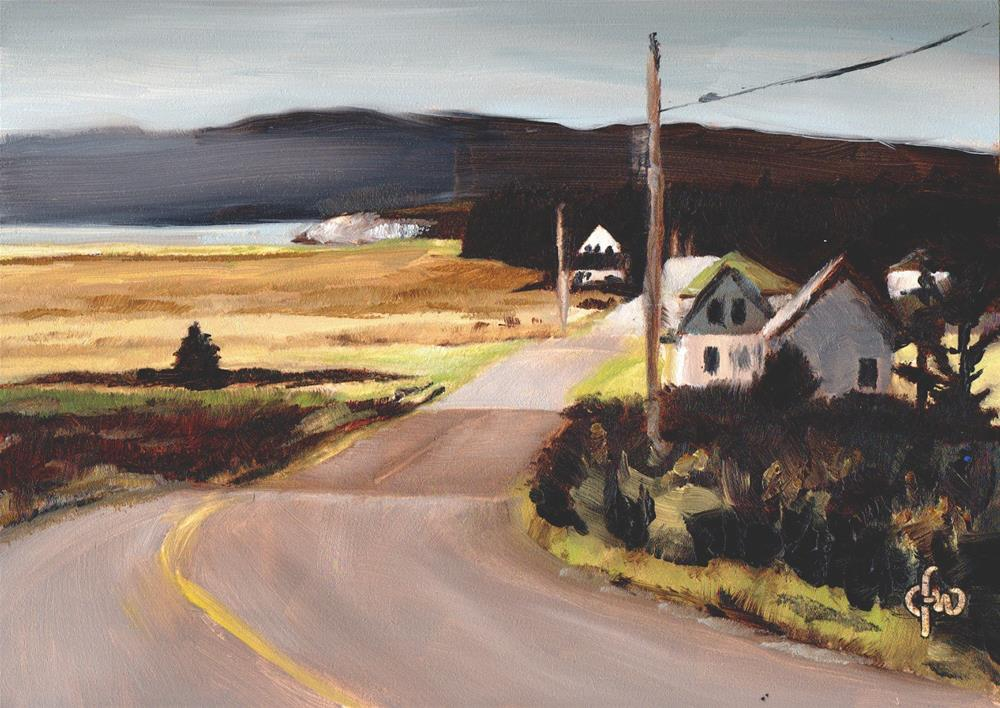 """""""Valley by the Sea"""" original fine art by Gary Westlake"""