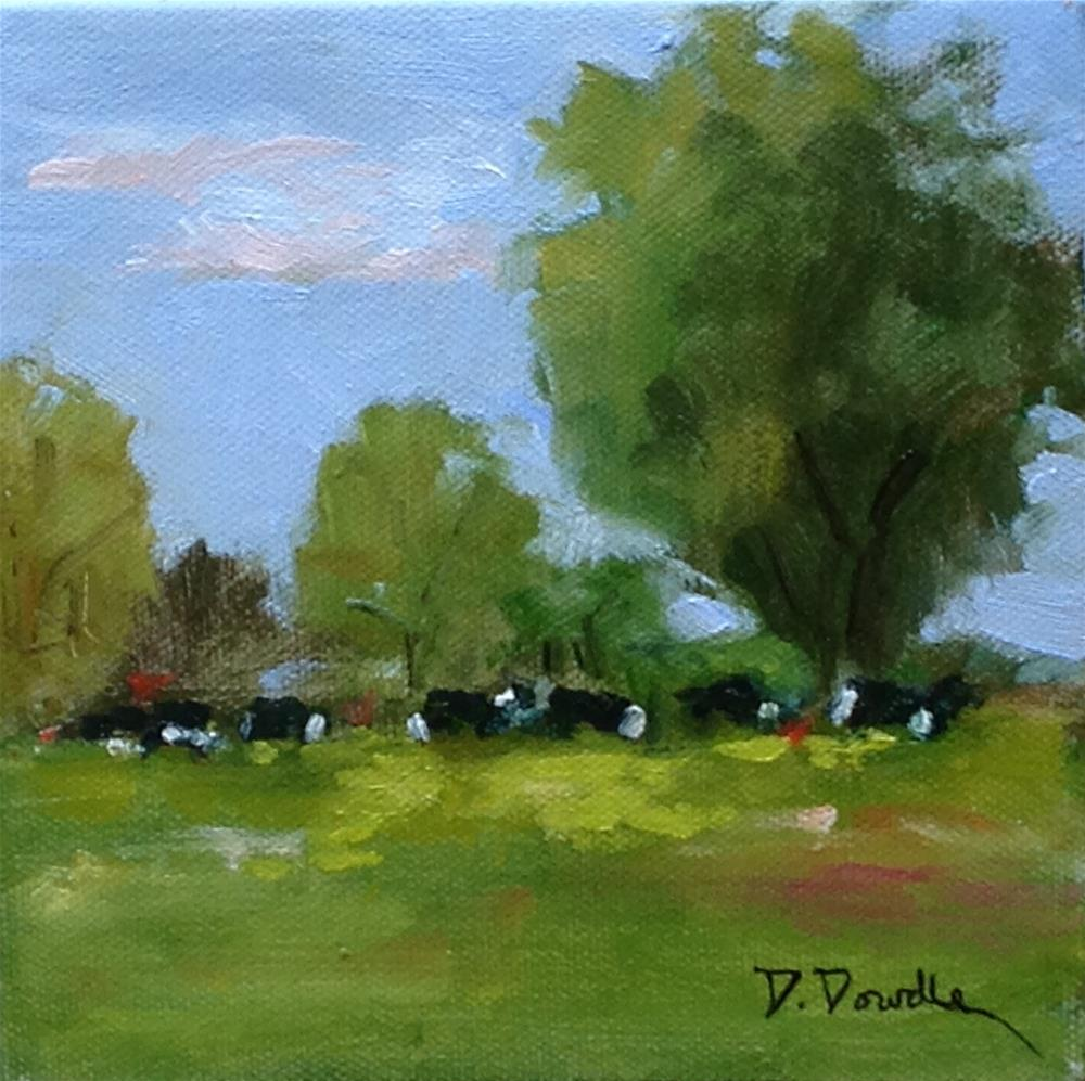 """Heading for the Barn"" original fine art by Debbie Dowdle"