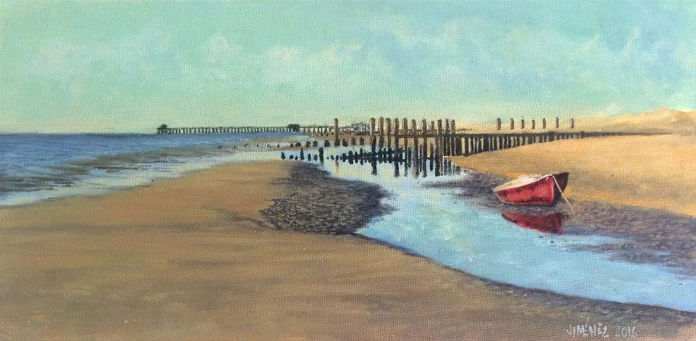 """""""Boat  4 x 8 oil on panel"""" original fine art by Paulo Jimenez"""