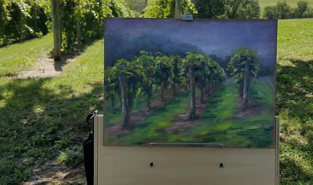 """Vineyard at Noboleis"" original fine art by Tammie Dickerson"