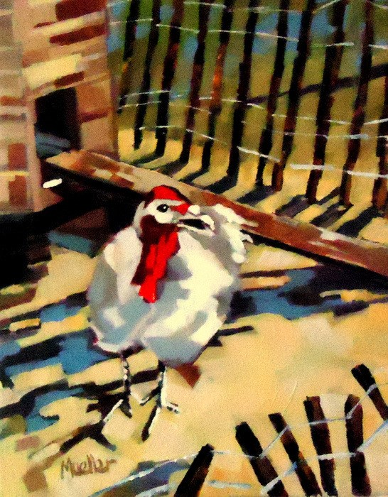 """""""They Invited Me For Thanksging!!"""" original fine art by Laurie Mueller"""