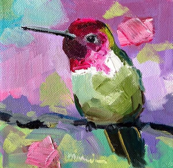 """""""Make  Mine Pink - SOLD"""" original fine art by Marcia Hodges"""