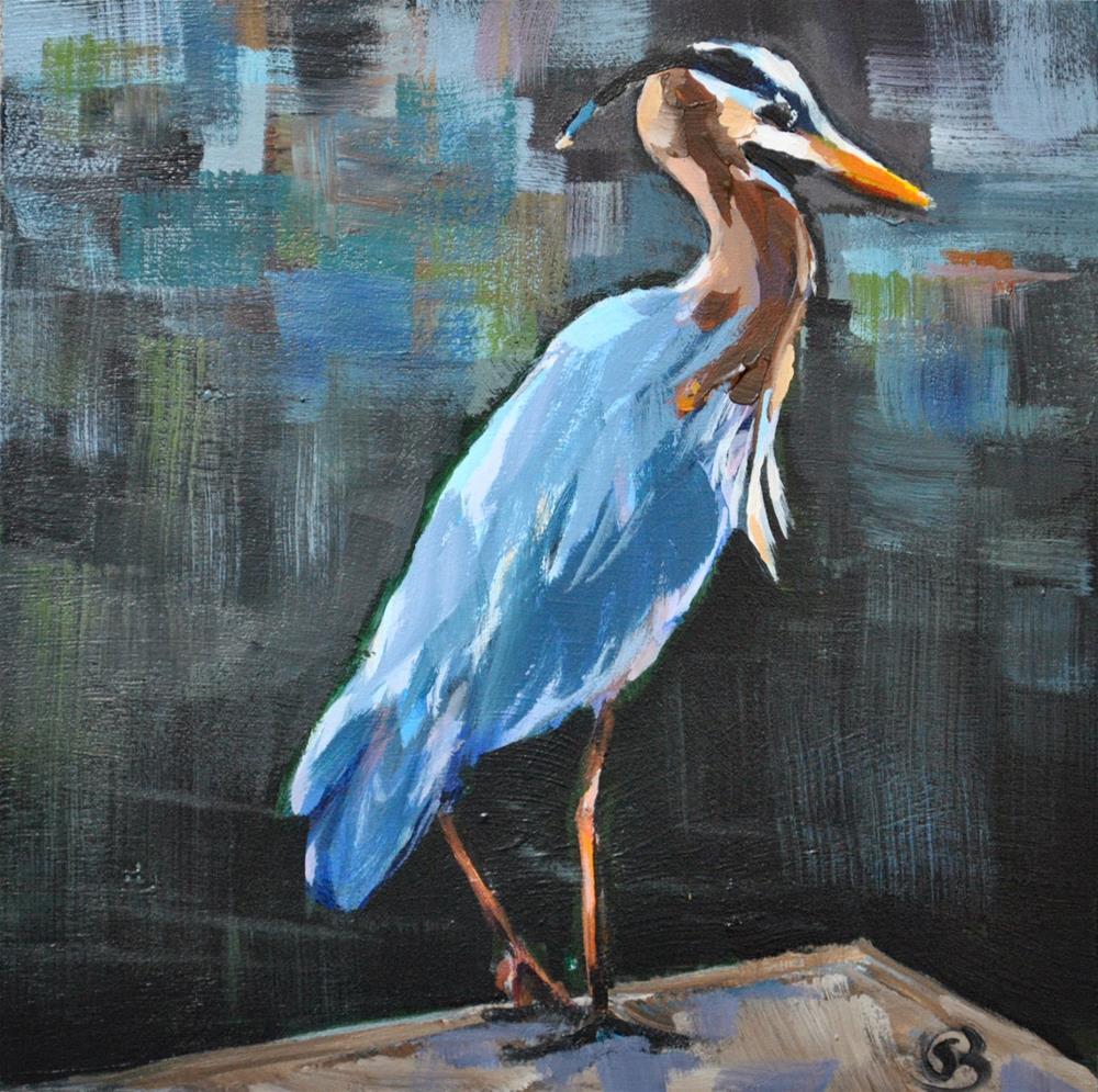 """Great Blue Heron"" original fine art by Shari Buelt"