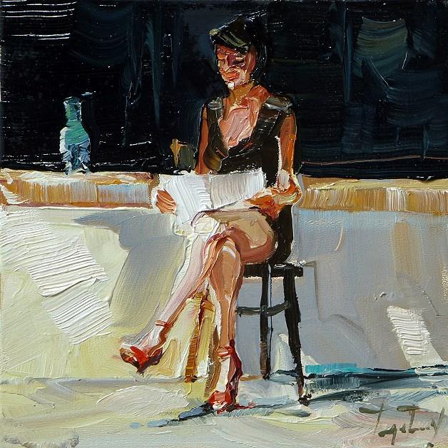 """""""read"""" original fine art by Jurij Frey"""