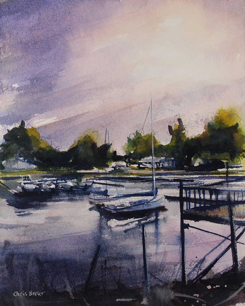 """Wilson Marina"" original fine art by Chris Breier"