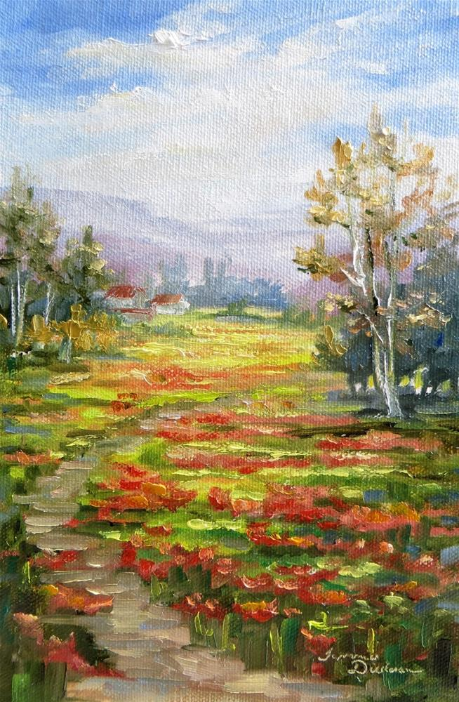 """Path in Poppy Fields"" original fine art by Tammie Dickerson"