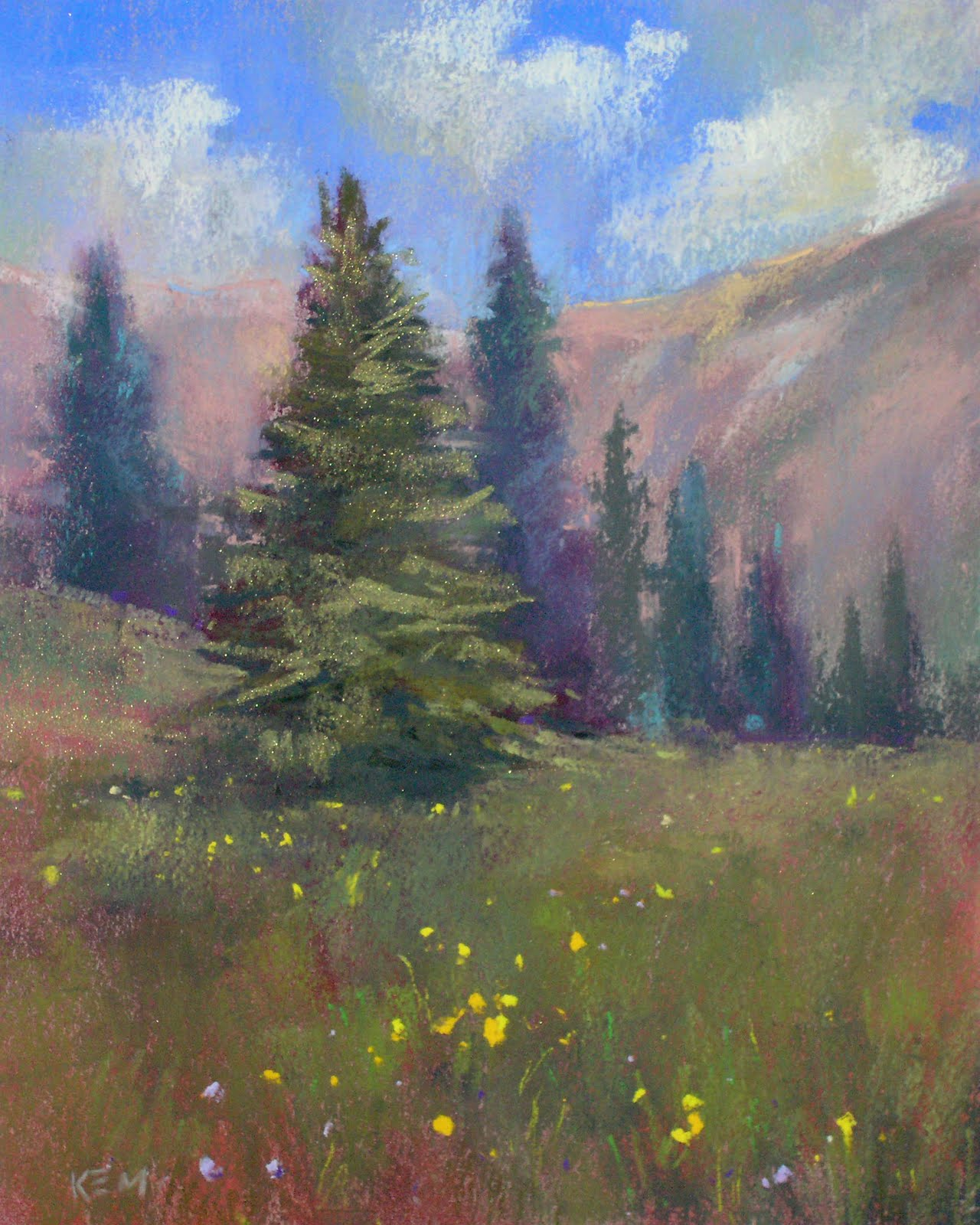 """Colorado Meadows  8x10  pastel"" original fine art by Karen Margulis"