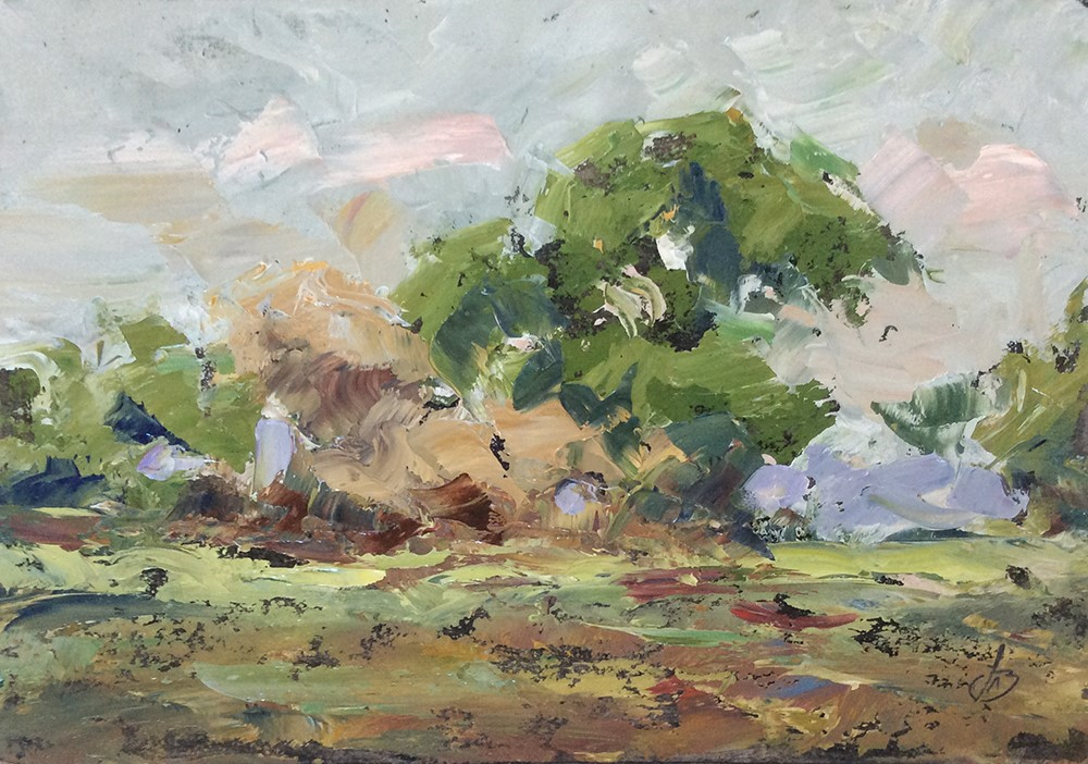 """BOLD, LOOSE LANDSCAPE"" original fine art by Tom Brown"