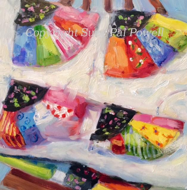 """Fan Quilt"" original fine art by Suzy 'Pal' Powell"