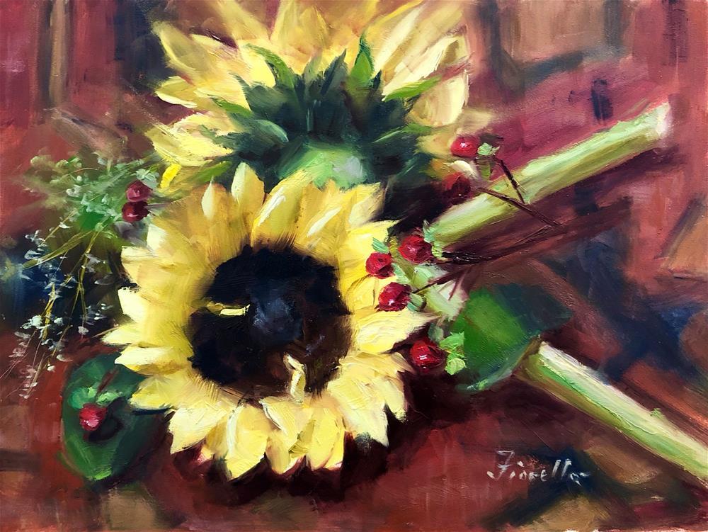 """""""Sunny"""" original fine art by Pat Fiorello"""