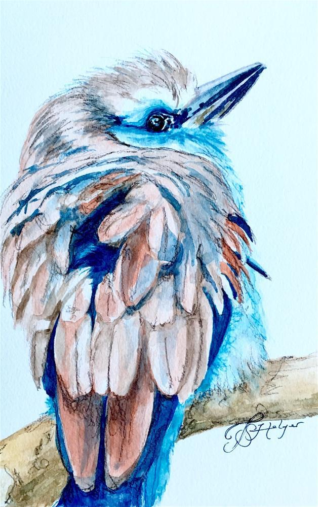 """Baby Blue"" original fine art by Jen Holyer"