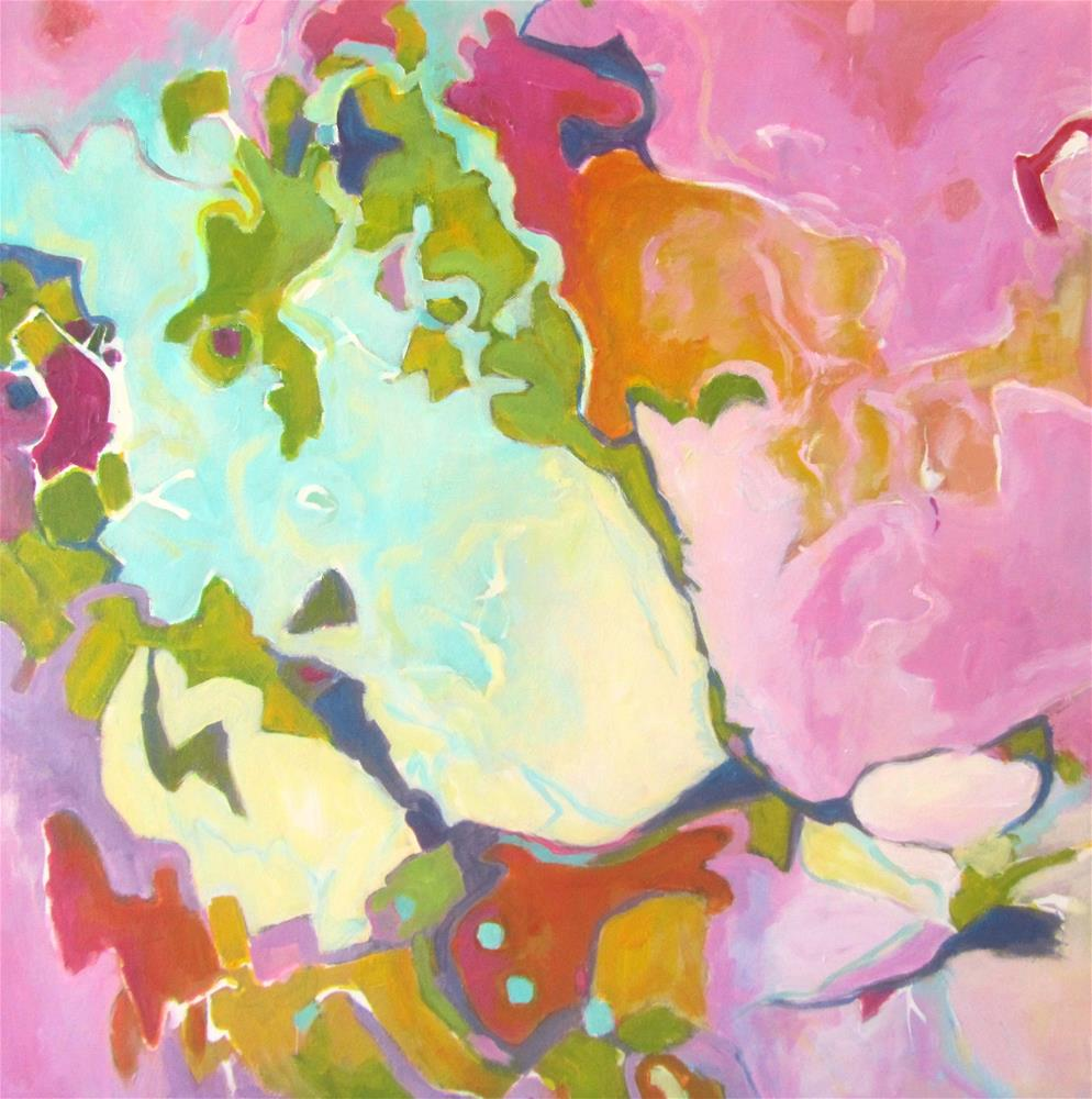 """'Lyrical Dance' (Water Reflections- Abstract Five)"" original fine art by Patricia MacDonald"
