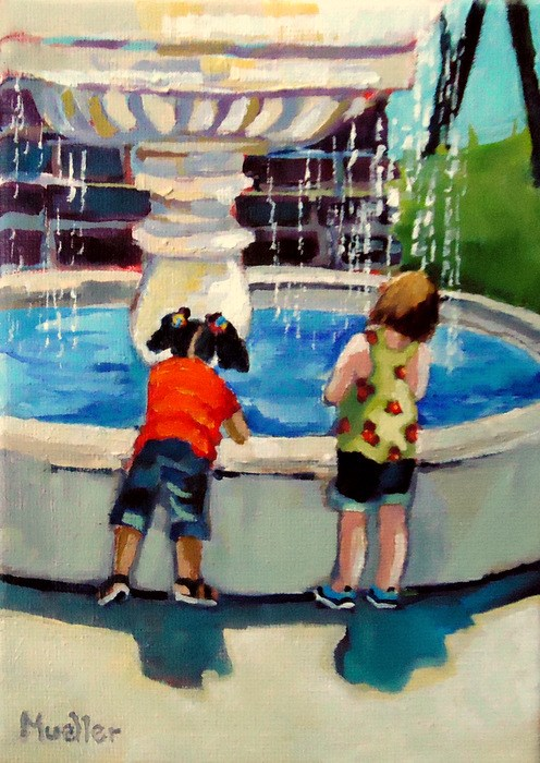 """""""Fountain of Youth"""" original fine art by Laurie Mueller"""