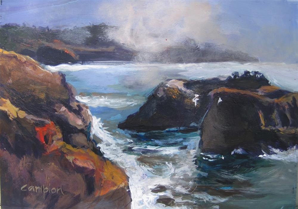 """The Headlands, Mendocino"" original fine art by Diane Campion"
