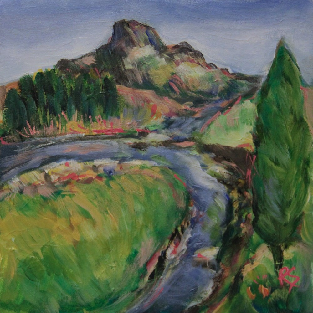 """Mountain Stream"" original fine art by Roberta Schmidt ArtcyLucy"