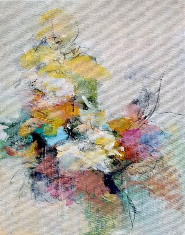 """""""Floral 10"""" original fine art by Karen Hale"""