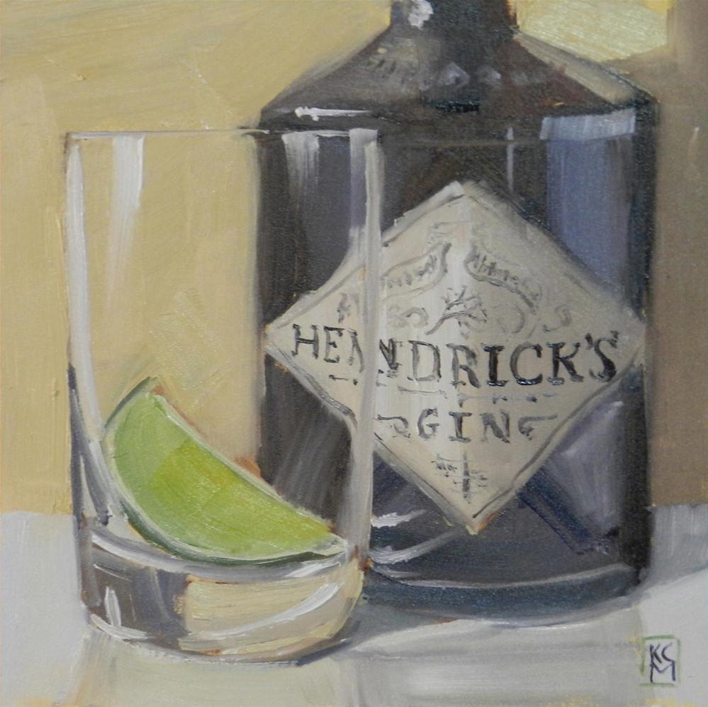 """Waiting For Tonic, 6x6 Inch Original Oil Painting By Kelley MacDonald"" original fine art by Kelley MacDonald"